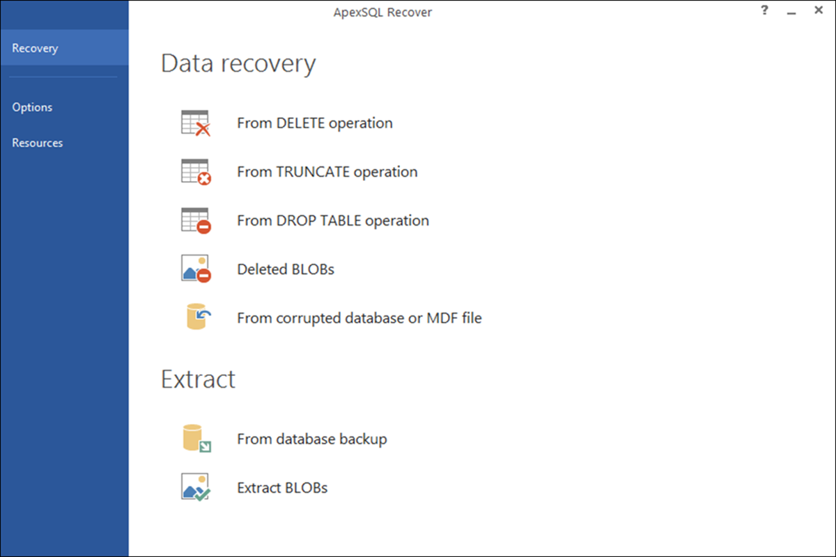 Click to view ApexSQL Recover screenshots