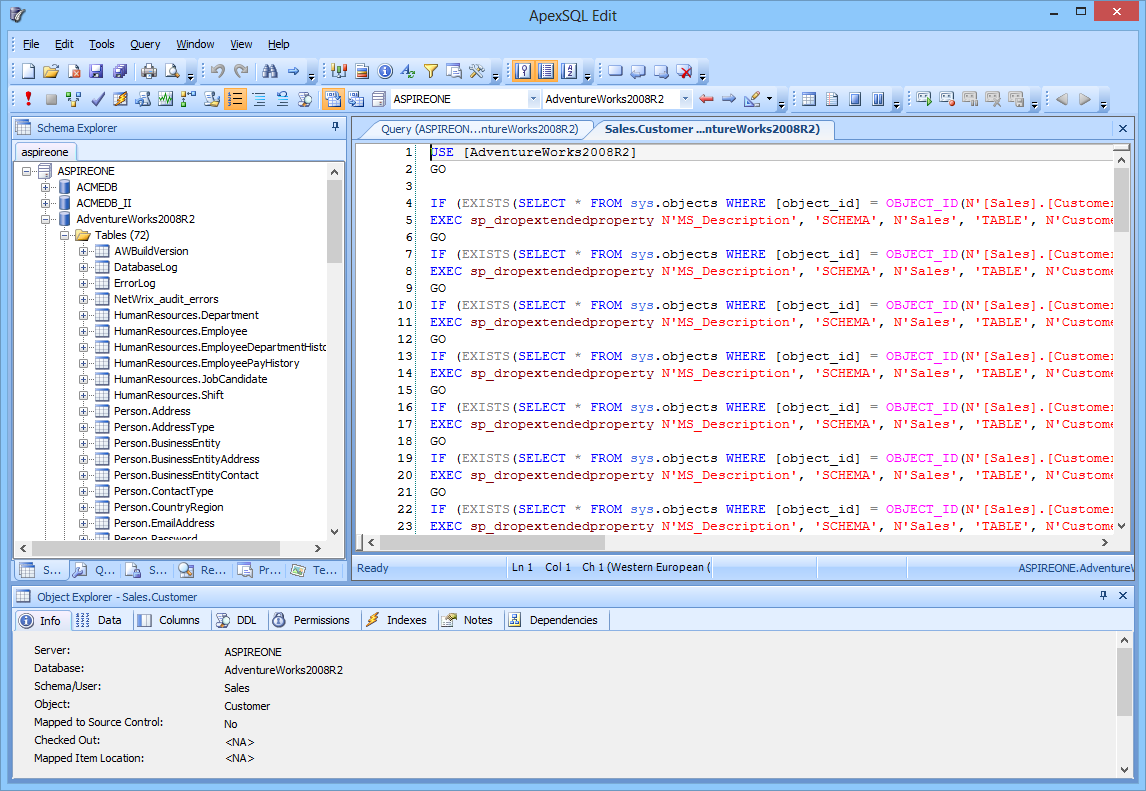 Click to view ApexSQL Edit screenshots