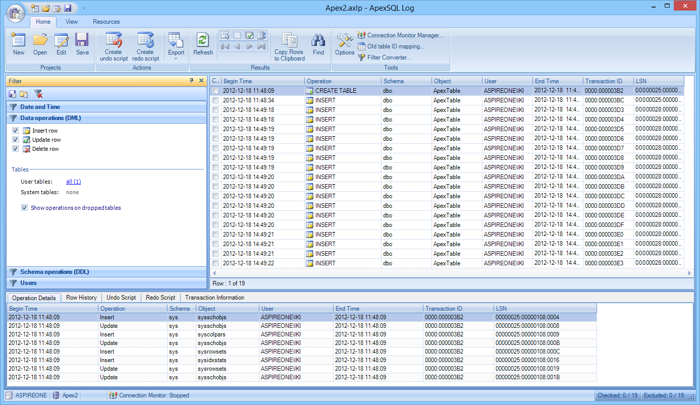 A Database Auditing and Recovery Solution