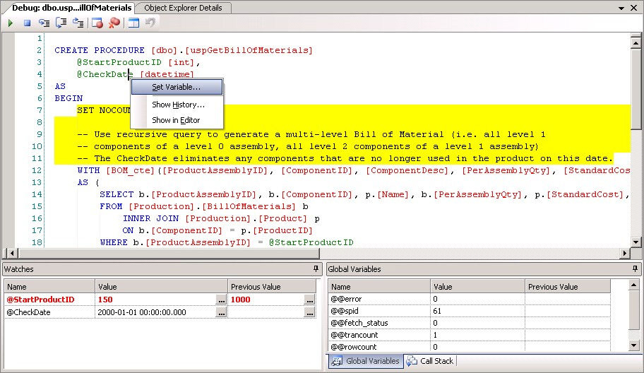 Click to view Apex SQL Debug screenshots