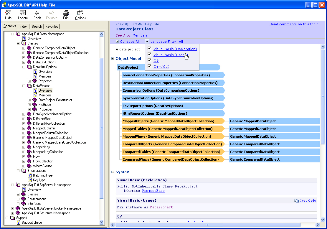 Click to view Apex SQL Diff API 2008.03 screenshot